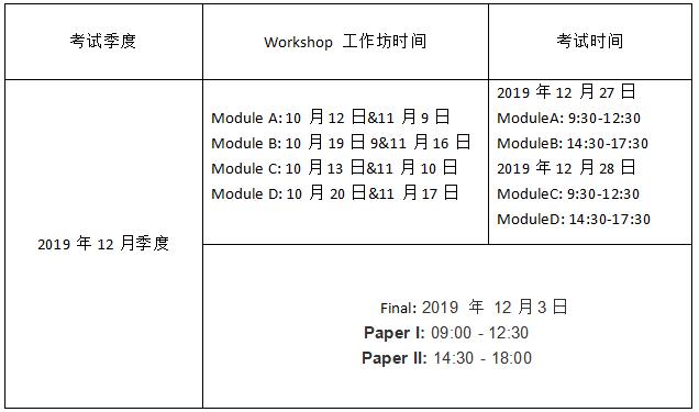 HKICPA考试时间