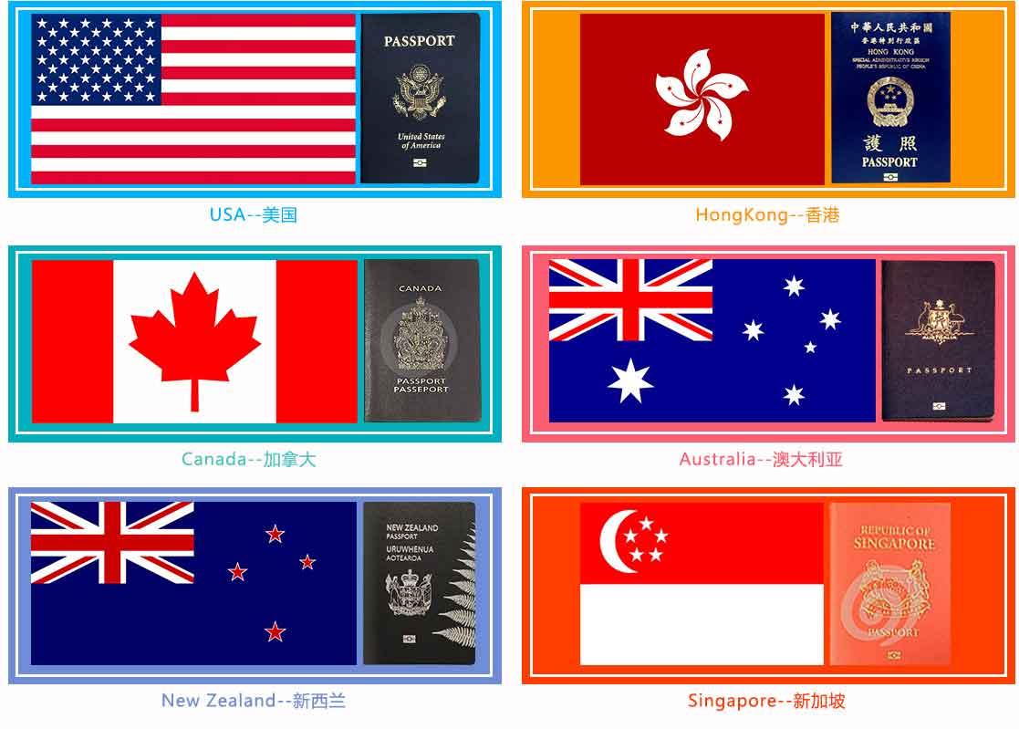 职业移民服务的国家与地区
